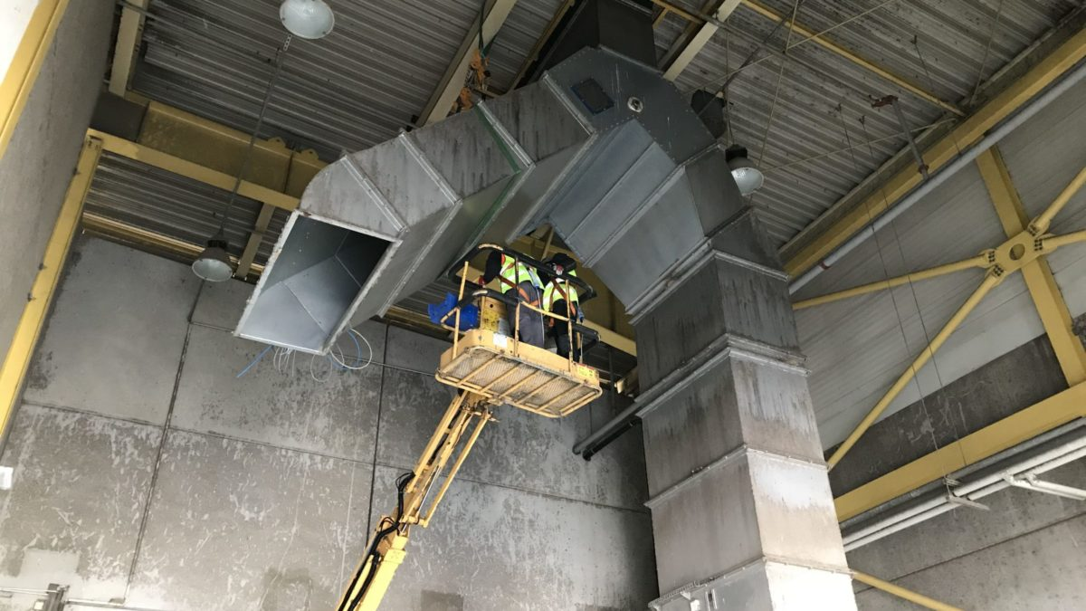 Dismantling of industrial presses in Miekinia near Wroclaw